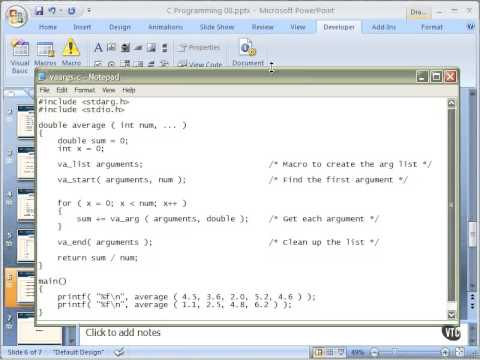 Variable Length Argument Lists - 05 - Chapter 08