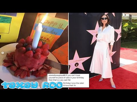 Victoria Beckham divides opinion with her VERY healthy birthday 'cake'