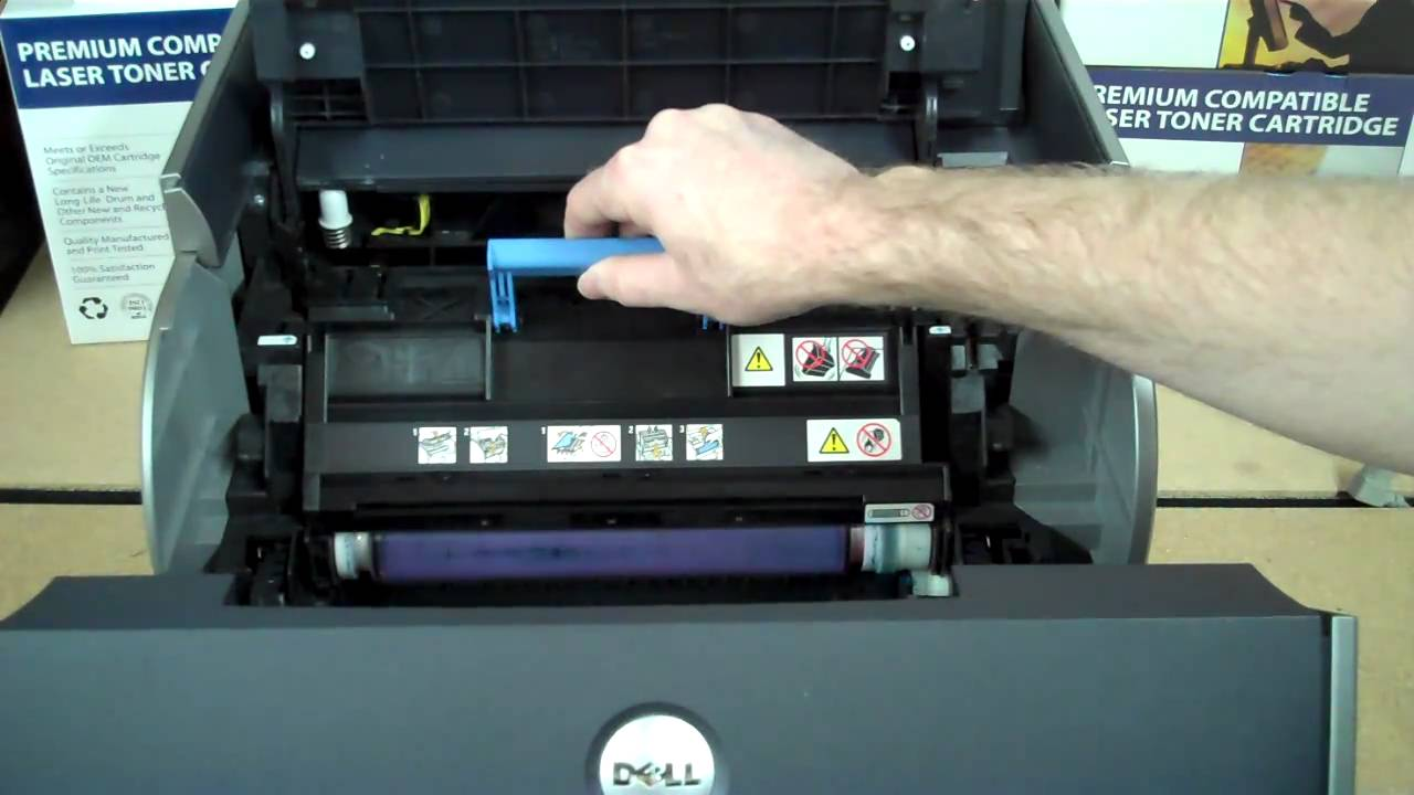 Hot To Remove Drum Unit in the Dell 5100CN Printer