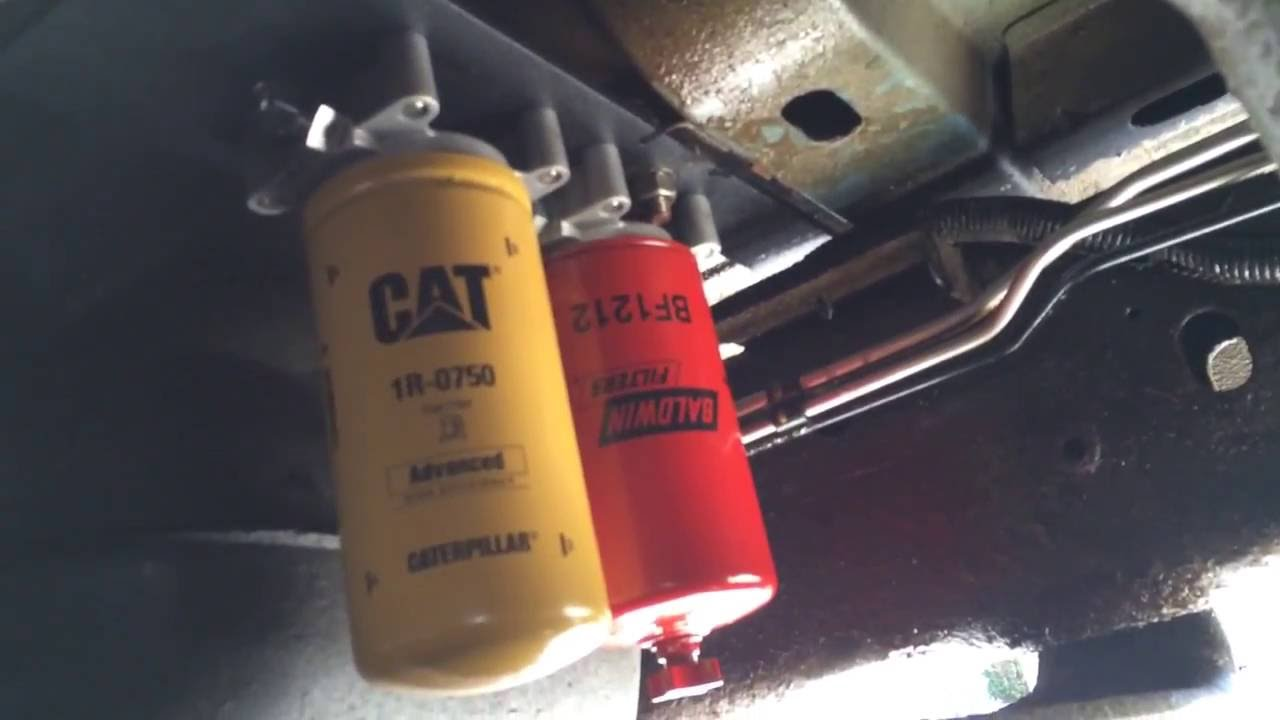 5.9L mins 2 micron CAT fuel filter - YouTube