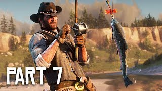 Red Dead Redemption 2 Gameplay Walkthrough, Part 7 - Fishing! (RDR 2 PS4 Pro Gameplay)