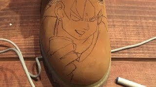 DIY How To: Custom Timberland Boots Part 1: Sketch Dragonball Z Goku