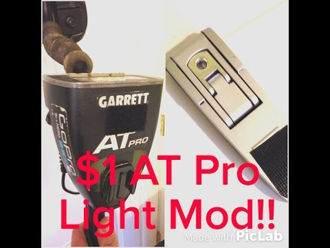 $1 Garrett AT Pro Metal Detector Light Mod Ace 250, 350, Gold How To