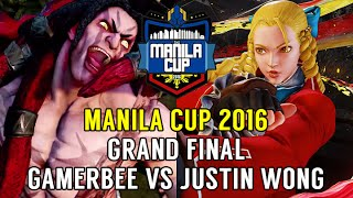 Street Fighter V Tournament: Manila Cup 2016 Grand Final - Gamerbee (Necalli) v Justin Wong (Karin)