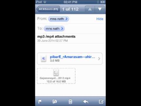 Save audio/video attachments to ipod/ipad/iphone