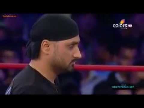 Harbhajan Singh Fighting In WWE