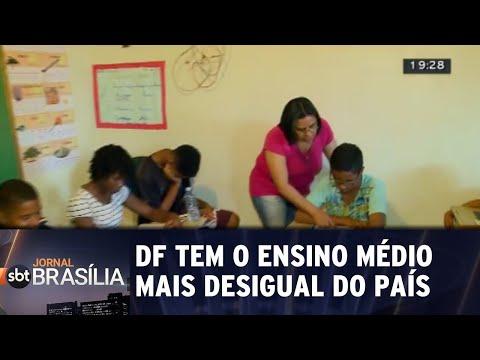 DF tem o ensino médio mais desigual do   país | Jornal SBT Brasília 30/08/2018