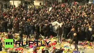 видео Столкновения в Брюсселе 27.03.2016 Протесты в Бельгии. Видео, прямая трансляция #Майдан #Брюссель #Бельгия #Brussels #Belgium