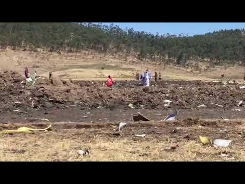Crash Site of Ethiopian 737-MAX8 Flight ET302