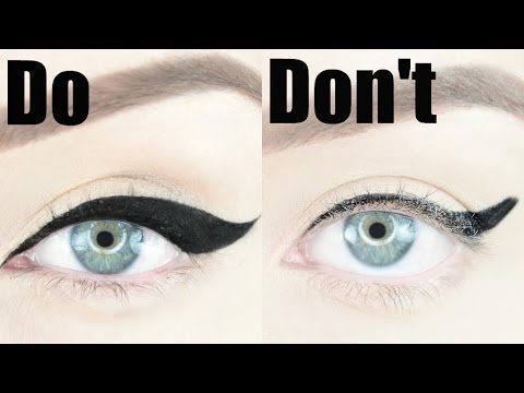 winged eyeliner dos and don'ts  stephanie lange  youtube