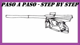 Como dibujar una Pistola de Paintball l How to draw a Paintball Gun