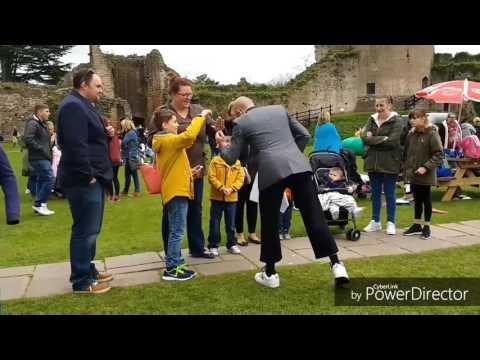 Contact juggler walk about act