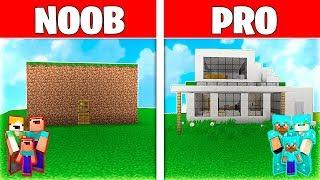 Minecraft NOOB vs PRO: LA CASA de la FAMILIA de MINECRFAFT!