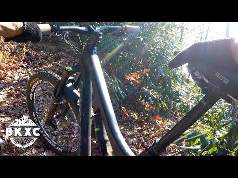 Mountain Biking the Black Mountain trail in Pisgah National Forest near Asheville, North Carolina