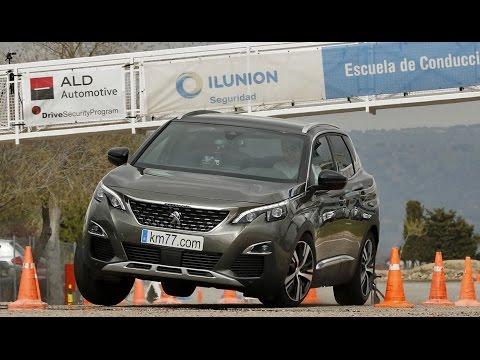 Peugeot 3008 1.6 BlueHDI 2017 - Maniobra de esquiva (moose test) y eslalon | km77.com