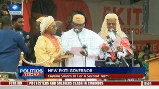 New Ekiti Governor: Fayemi Sworn In For A Second Term  Politics Today 