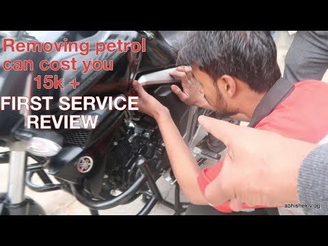 yamaha fz fi V2 First Service Review | Removing Petrol Is Very RISKY!!