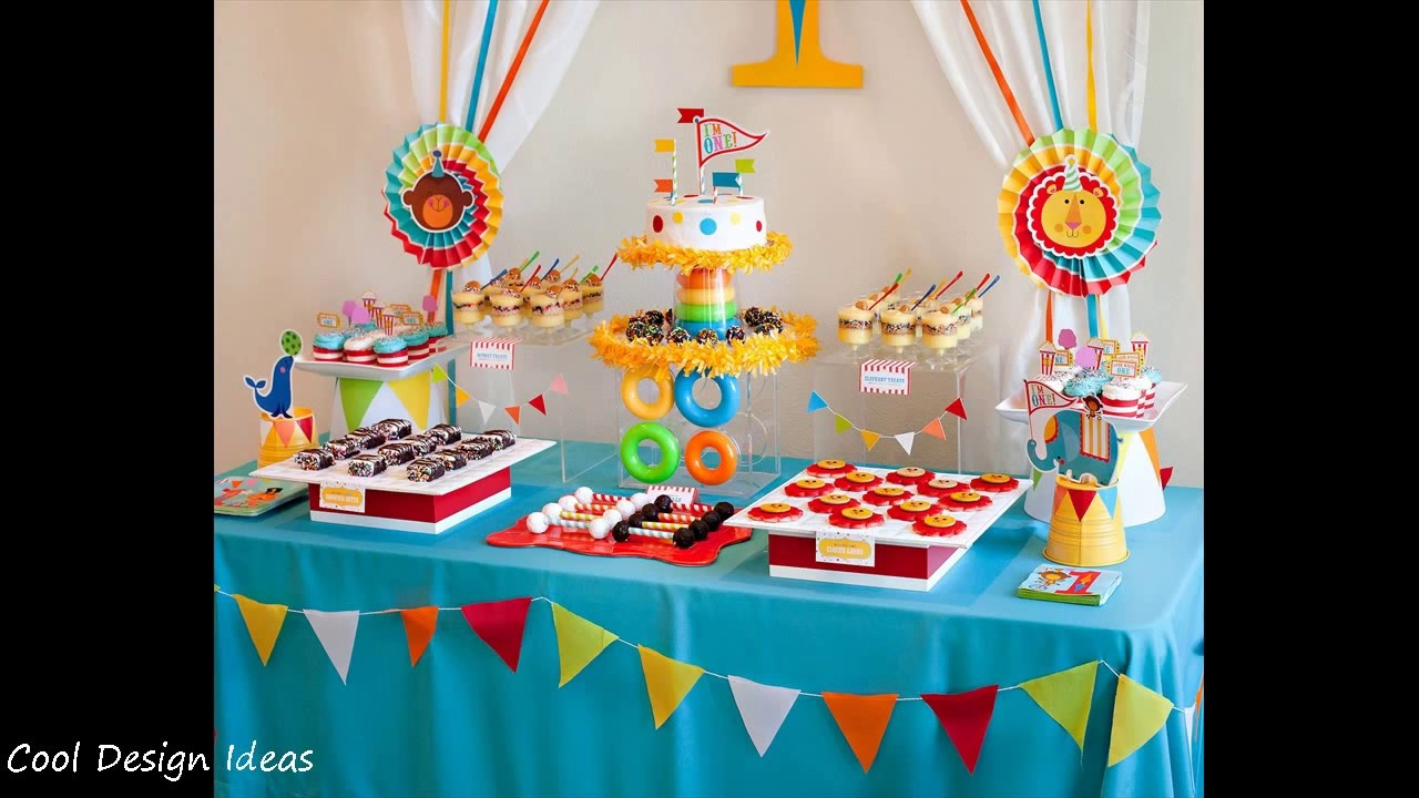 Diy First Birthday Party Decorating Ideas For Boys Youtube
