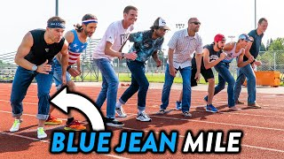 1 Mile Race in BLUE JEANS vs Subscribers!