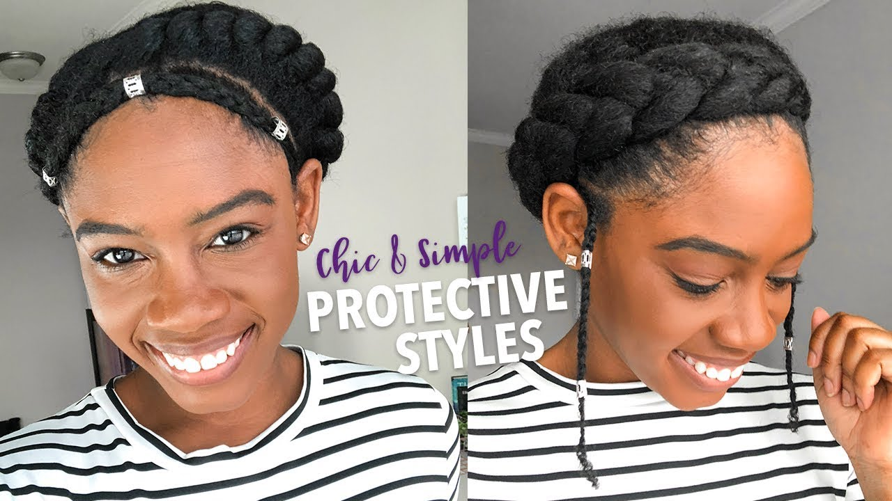 5 Amazingly Easy Protective Styles For Natural Hair Tutorials One Smart Fro