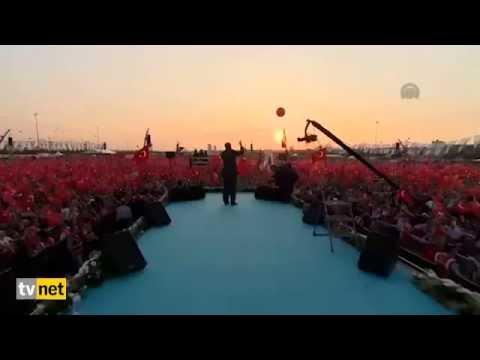 Cumhurbaşkanı Erdoğan Biz Kısık Sesleriz Dua'sı Teröre Karşı Tek Ses Mitingi