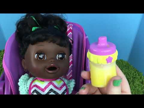 Early Saint Patricks Day Feeding With Baby Alive Real Surprises Doll Violet