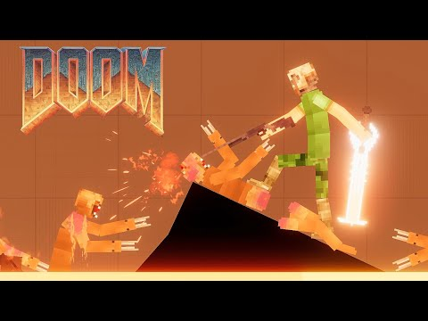 DOOM GUY fighting Demon in Hell [DOOM Mod] People Playground 1.16 |