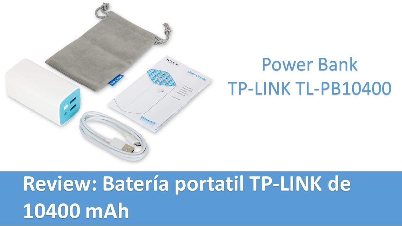 Review: Batería portatil TP-LINK TL-PB10400 - YouTube
