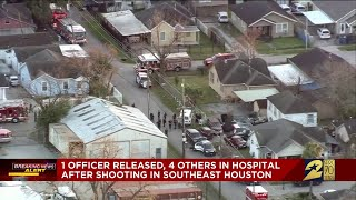 Officers shot: 1 officer released, 4 others in hospital after shooting in southeast Houston