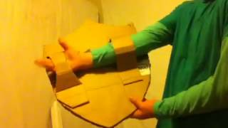 How to make a cardboard sword and Shield from legend of zelda.