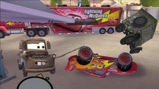 Disney Pixars Cars Movie Game - Crash Mcqueen 152 - Twister McQueen