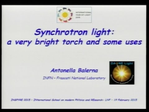 The synchrotron light: a brilliant torch and its uses