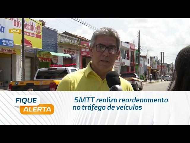 SMTT realiza reordenamento no tráfego de veículos da Rua 16 de Setembro, na Levada