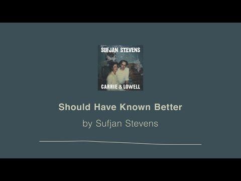 Should Have Known Better - Sufjan Stevens lyric video