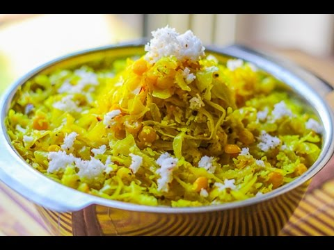 Stir Fry Cabbage with Chana Dal -Cabbage Upkari