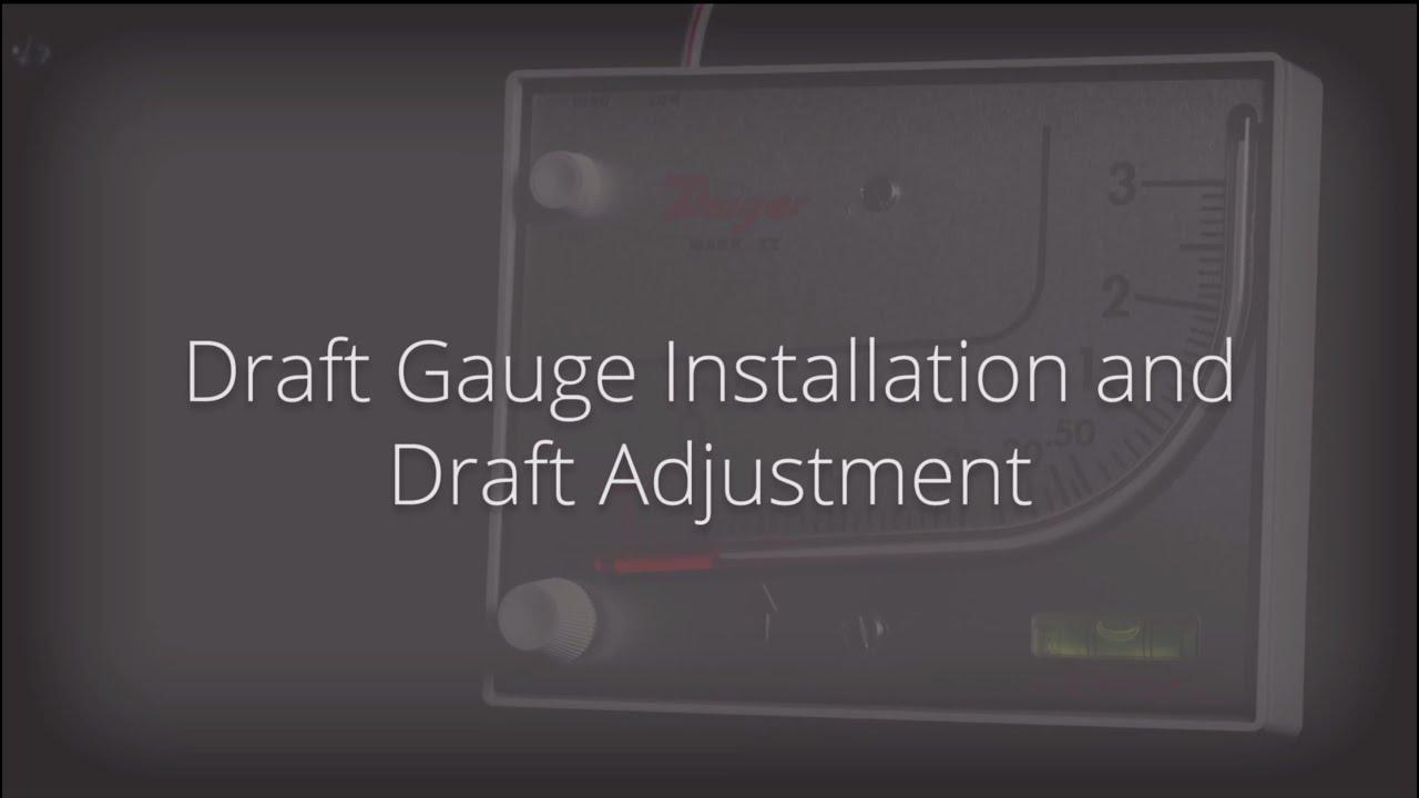 draft gauge installation and draft adjustment youtube