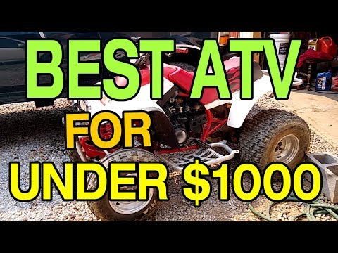 BEST USED ATV FOR UNDER 1000 DOLLARS - CHEAP TRAIL RIDING FOUR WHEELER PROJECT