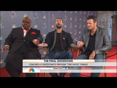 the voice : finalists and judges (adam levine , Blake shelton and cee lo green) interview