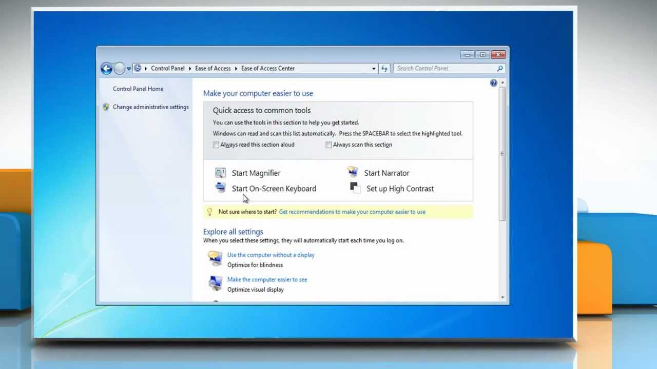 how to change contrast in windows 7
