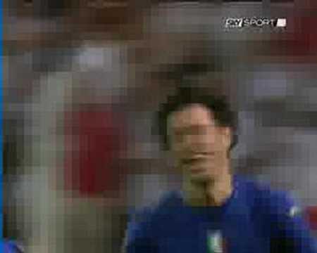 Gol di Grosso in Italia-Germania mondiali 2006