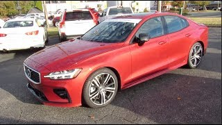 2019 Volvo S60 T6 R-Design AWD Walkaround, Start up, Tour and Overview
