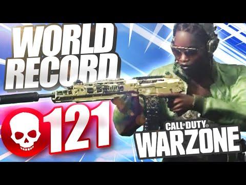 NEW WORLD RECORD! *121 KILLS* in Call of Duty WARZONE!
