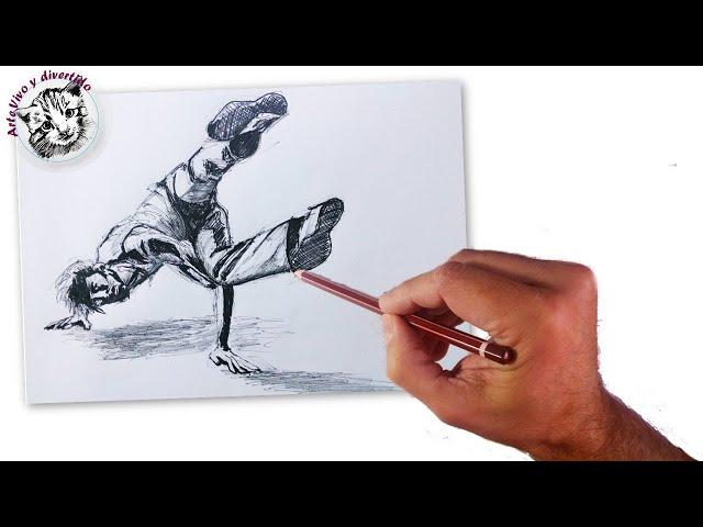 Como Dibujar la Figura Humana en movimiento 1: Un bailarin de hip ...