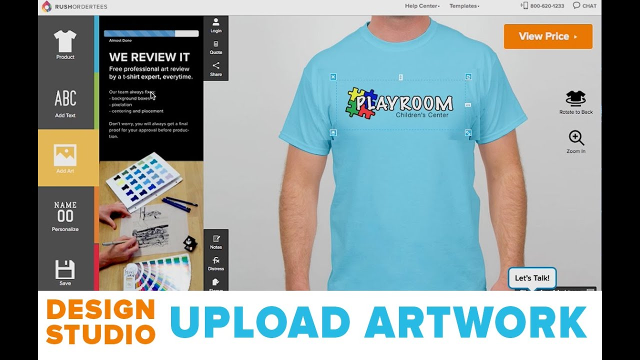 How To Upload Artwork To Your Custom T Shirts Design Studio