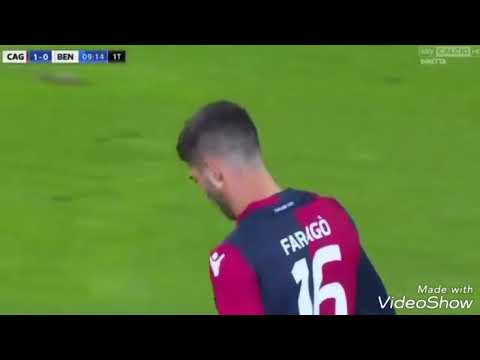 Cagliari Vs Benevento 2-1  goals 25/10/2017