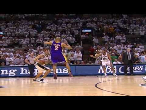 TNT - Was Brent Barry Fouled? (Lakers-Spurs Game 4)