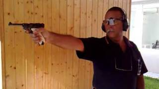 Pistola Luger P08 byf 41 9 mm Parabellum. Serie de disparos