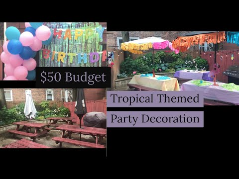 Tropical Theme Party Decorating On A Budget