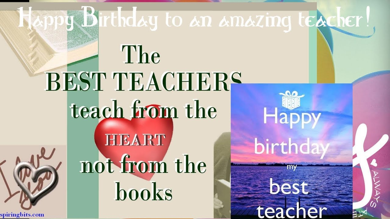 Happy Belated Birthday to my Math Teacher! - YouTube