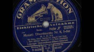 Mozart Divertimento Nr.8 F-Dur KV 213